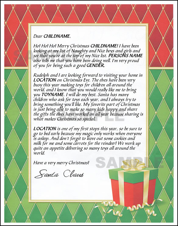 Letter from santa mail santa letter present spiritdancerdesigns Image collections