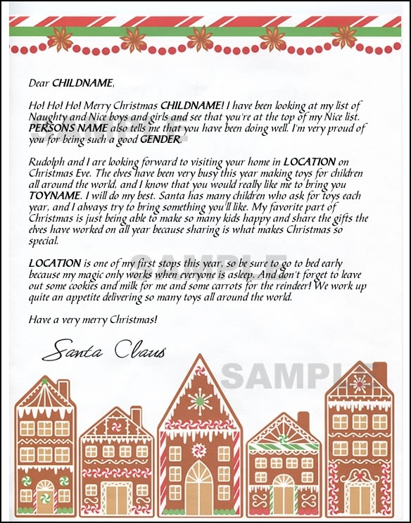 Mail Santa Letter - Gingerbread