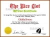 Instant Nice Certificate - Red / Green